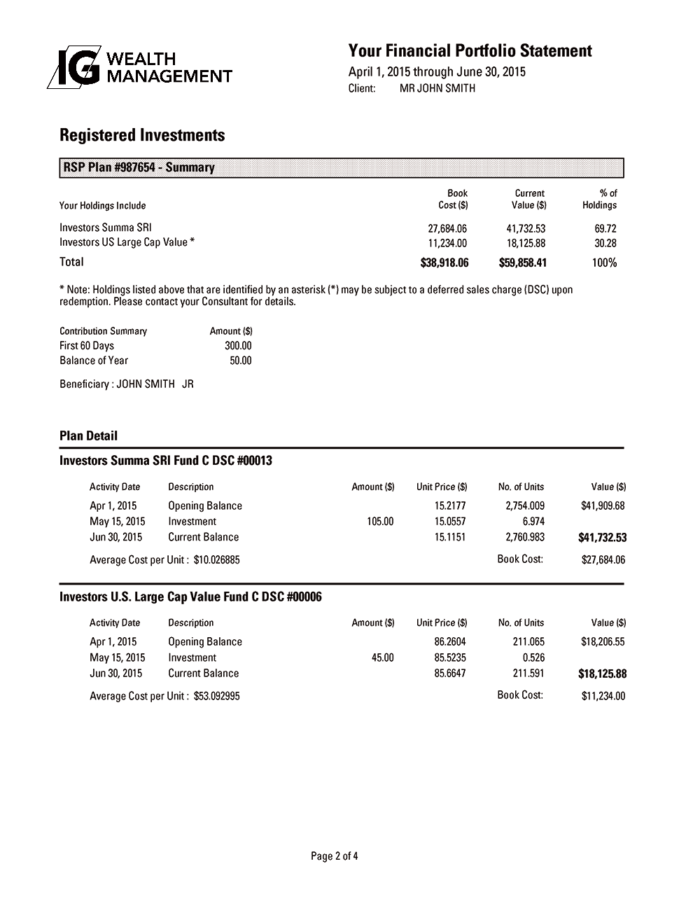 Registered Investments